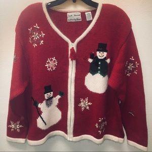Croft & Barrow Handknit Christmas Cardigan
